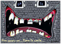 """Five years on time to smile"""