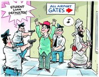 Student loan defaulter at the airport