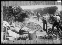 Road making at Shrapnel Gully, Gallipoli - Photograph taken by J M