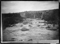 Bridge over the Waiaua River at Opunake - Photograph taken by Sinclair & Duncan
