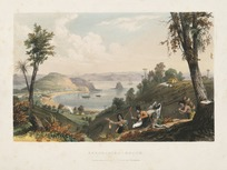 Earle, Augustus 1793-1838 :Kororadika Beach, Bay of Islands. London, lithographed and published by R. Martin & Co [1838]