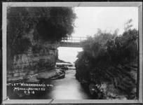 The outlet at Lake Waikaremoana - Photograph taken by John William McDougall
