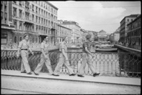 New Zealand soldiers on leave in Trieste, Italy, at the end of World War 2 - Photograph taken by George Kaye
