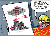Xmas special on demolition - Christchurch Cathedral and AMI Sports Stadium