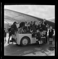 National Airways Corporation Orphan's playing on a loading truck