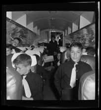 National Airways Corporation Orphan's are seating during a flight