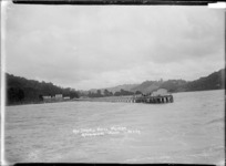 Approaching the wharf at Waiwera