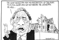 Winston Peters calls for restoration of Christchurch Cathedral