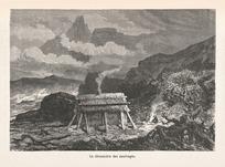 Neuville, Alphonse Marie de, 1835-1895 :La chaumiere des naufrages. [Paris, 1869?]