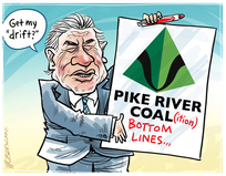 Winston Peters and Pike River Coal bottom line