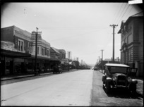 View looking along Great South Road, Otahuhu, Auckland