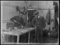 Ex-serviceman undergoing rehabilitation as a welder after the Great War
