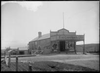 T H Chapman's store at Kihikihi, circa 1912