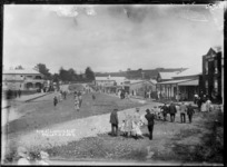 Bow Street looking east, Raglan, 1911 - Photograph taken by Gilmour Brothers