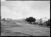 View of Streets, Vincents & Lynch, Ngaruawahia, 1910 - Photograph taken by G & C Ltd