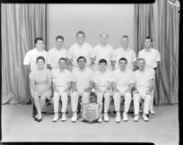 Wellington Gas Company Cricket Team, with trophy