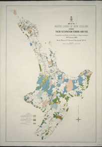 Map of the native lands of New Zealand, shewing their occupation, tenure and use [cartographic material] : [North Island].