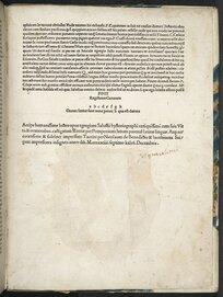 Hoc in uolumine haec continentur. Pomponii Epistola ad Augustinu[m] Mapheu[m] / .C.Crispii Salustii bellum catilinariu[m] cum co[m]mento Laurentii ualensis. Portii Latro[n]is Declamatio co[n]tra .L.catilina[m]. C.Crispi Salustii bellum iugurtinu[m] .C.Crispii Salustii uariae orationes ex libris eiusdem historiarum excerptae. .C.Crispii Salustii uita. Romae per Pomponium emendata: ac Taurini diligentissime impressa.