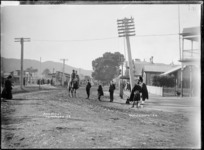 Great South Road, Ngaruawahia, 1910 - Photograph taken by G & C Ltd