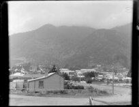 Houses on corner of Bridge Street and Terminus Street, Te Aroha, Piako County, Waikato