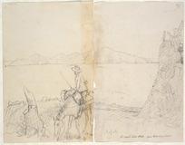 Collinson, Thomas Bernard 1822-1902 :N[orth] Coast, Cook Strait - from Horokiri Pass. Kapiti. [1846]
