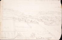 Collinson, Thomas Bernard 1822-1902 :New Plymouth from Marsland Hill. 1847
