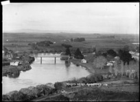 Railway Bridge (Waikato Bridge) over the Waikato River at Ngaruawahia, 1910