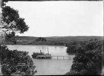 Ferry steamer at Waiake Beach, Torbay, Auckland