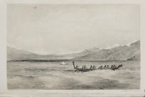 Angas, George French, 1822-1886 :Entrance to the valley of the Wairau from Cloudy Bay New Zealand. / George French Angas del. Pubd by Smith, Elder & Co., London. Day & Haghe, lithrs to the Queen. 1847.