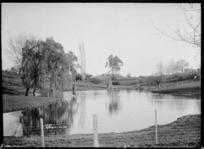 Small lake at Kihikihi, circa 1912