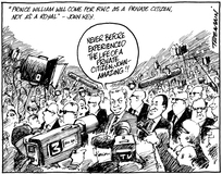 """Tremain, Garrick 1941-:""""Prince William will come for RWC as a private citizen, not as a royal"""" - John Key. 22 April 2011"""