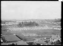 View of the Mounted Special's camp at Remuera, Auckland