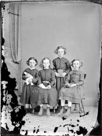 Four unidentified girls, probably sisters