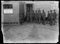 New Zealanders going to Sunday Service at the Base Depot in France, Etaples