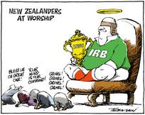 Tremain, Garrick 1941- :New Zealanders at worship. 29 May 2011