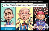 "Spare a thought for the victims of the war on free speech - ""In this PC world men like me are being silenced!"""