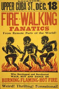 Fire-walking fanatics from remote parts of the world! Upper Cuba Street, Dec[ember] 18, [ca 1914].