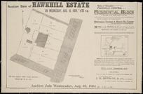 Auction sale of Hawkhill Estate ... Wellington Terrace & Mount St. corner [cartographic material] / Seaton & Sladden, surveyors.