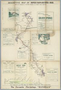 Descriptive map of Napier-Taupo-Rotorua road [cartographic material] / R. Kennedy, delr.