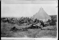 World War I troops in camp