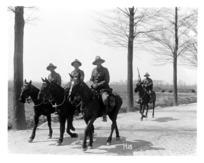 Some New Zealand officers on horseback