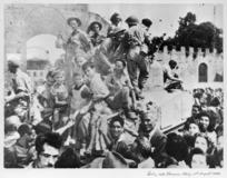 New Zealanders entering Florence, Italy, during World War II