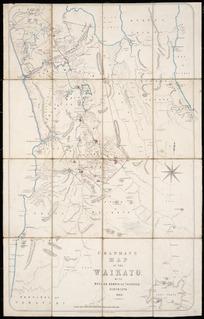Chapman's map of the Waikato [cartographic material] : with Raglan, Kawhia and Tauranga districts.