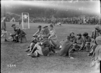 Members of the Queen Mary's Auxilary Army Corps attend New Zealand General Base Depot sports, Etaples, France
