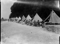 Soldiers' quarters at Pas-en-Artois, France, World War I