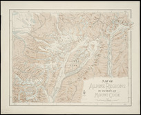 Map of alpine regions in vicinity of Mount Cook [cartographic material].
