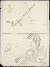 Entry anchorage [cartographic material] ; Porirua Harbour and Mana Island / surveyed by J. L. Stokes.