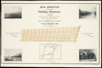 New Brighton, Christchurch, building allotments [cartographic material] : plan of subdivision of land situate in New Brighton district, the property of Mrs. E. Calvert  / Wynford O. Beere, surv.