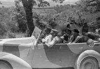 His Majesty King George VI visits 2 New Zealand Division during the advance towards Florence, Italy, during World War II - Photograph taken by George Kaye