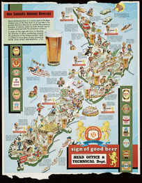 New Zealand's national beverage [cartographic material].